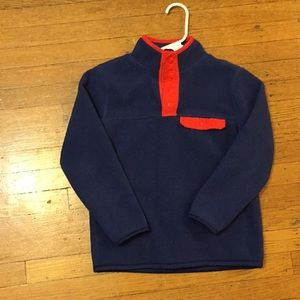 Fleece warm primary blue and red pullover